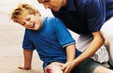 Помощь при ссадинах и царапинах детям