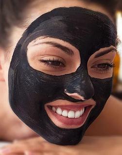 Черная маска от черных точек активированный уголь