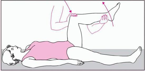 проверка симптома Кернига рожа