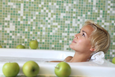 яблочный уксус ванны